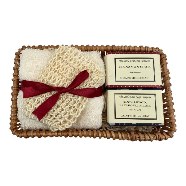 2 Soap Gift Basket with Sisal Bag
