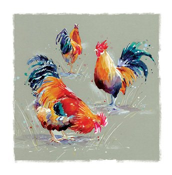Three Chickens - Blank for your own message