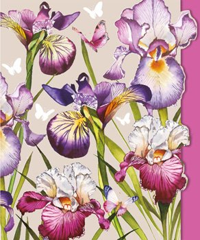 Irises- Blank for your own message