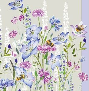 Blue Wildflowers- Blank for your own message