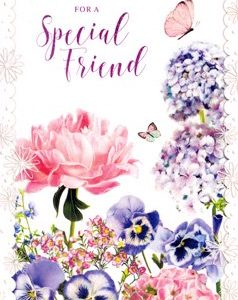Special Friend Floral - Happy Birthday