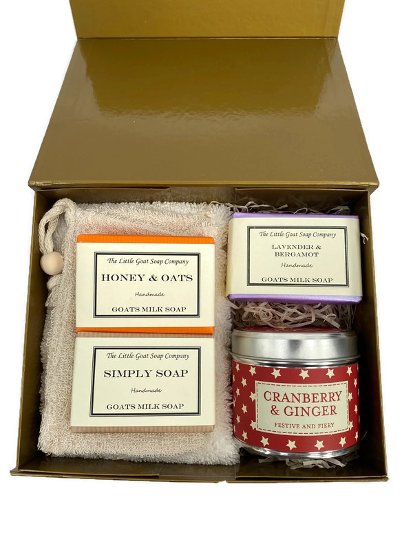 3 Soap and Candle Gift Box