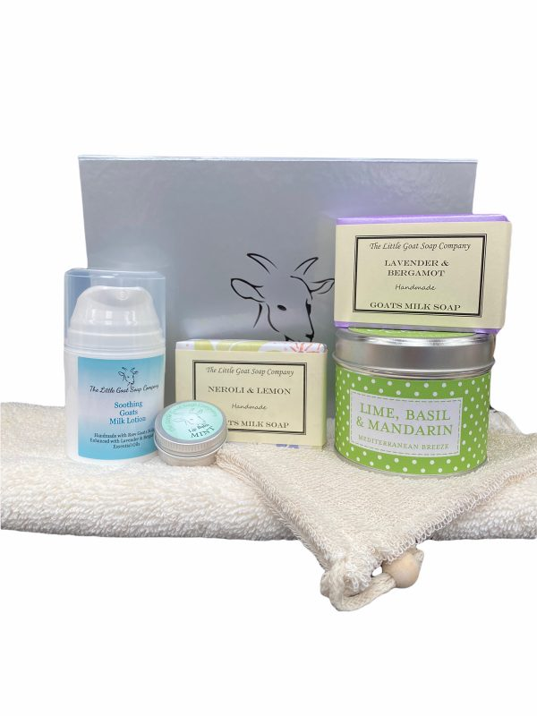 2 Soap, Lotion, Lip Balm and Candle Gift Box