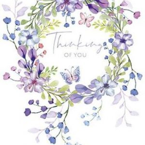 Purple Flower Wreath - Thinking of You